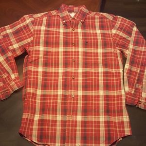 Carhartt Button Down Flannel. Red. S